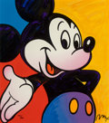Fine Art - Work on Paper:Print, Peter Max (b. 1937). Mickey Mouse. Screenprint in colors.15-1/2 x 13-1/2 inches (39.4 x 34.3 cm) (sheet). Ed. 312/500. ...