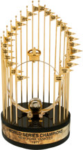 Baseball Collectibles:Others, 1977 New York Yankees World Series Championship Large Trophy....