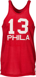 Basketball Collectibles:Uniforms, 1965-66 Wilt Chamberlain Signed Game Worn Philadelphia 76ers Jersey - From Second MVP Season! MEARS A8.5....