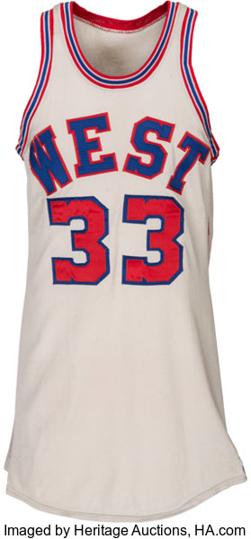 the best attitude 66ebe de302 1971 Lew Alcindor Game Worn NBA Western Conference All-Star ...