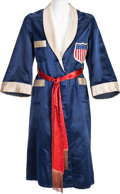 Boxing Collectibles:Memorabilia, 1930's Joe Louis Fight Worn Robe....