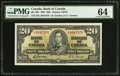 Canadian Currency: , BC-25b $20 1937.. ...