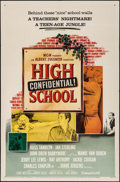 """Movie Posters:Exploitation, High School Confidential & Other Lot (MGM, 1958). One Sheet(27"""" X 41"""") & Lobby Card (11"""" X 14""""). Exploitation.. ...(Total: 2 Items)"""