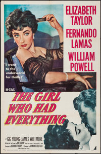"""The Girl Who Had Everything (MGM, 1953). One Sheet (27"""" X 41""""). Romance"""