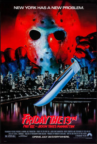 "Friday the 13th Part VIII: Jason Takes Manhattan & Others Lot (Paramount, 1989). One Sheets (3) (27"" X 41&q..."