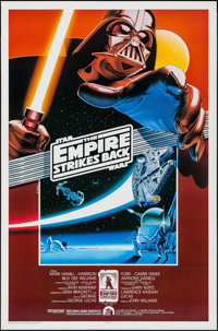 "The Empire Strikes Back (Kilian Enterprises, R-1990). 10th Anniversary Fan Club One Sheet (27"" X 41""). SS. Lar..."