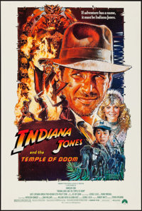 "Indiana Jones and the Temple of Doom (Paramount, 1984). One Sheet (27"" X 40"") Style B. Adventure"