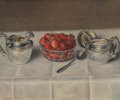 Fine Art - Painting, American:Modern  (1900 1949)  , Elbridge A. Burbank (American, 1858-1949). Still Life withStrawberries. Oil on canvas. 10-1/4 x 12 inches (26.0 x 30.5...