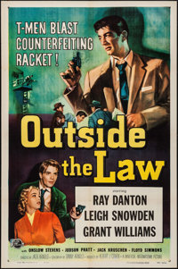 """Outside the Law (Universal International, 1956). One Sheet (27"""" X 41""""). Crime"""