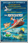 "Movie Posters:Animation, The Rescuers (Buena Vista, 1977). One Sheet (27"" X 41"").Animation.. ..."
