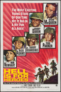 """Movie Posters:War, Hell is for Heroes (Paramount, 1962). One Sheet (27"""" X 41"""") &Lobby Card Set of 8 (11"""" x 14""""). War.. ... (Total: 9 Items)"""