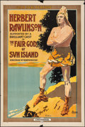 "Movie Posters:Drama, The Fair God of Sun Island (Universal, 1915). One Sheet (27"" X41""). Drama.. ..."