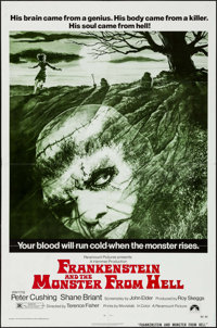 """Frankenstein and the Monster from Hell (Paramount, 1974). One Sheet (27"""" X 41""""). Horror"""