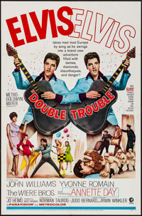 "Double Trouble (MGM, 1967). One Sheet (27"" X 41""). Elvis Presley"