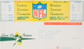 """Football Collectibles:Tickets, 1967 NFL Championship Game """"The Ice Bowl"""" Full Ticket w/Mailing Voucher...."""