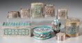 Asian:Chinese, Ten Chinese Silver and Enameled Opium Boxes, Qing Dynasty, 19thcentury. Marks: (various characters to undersides). 2-3/8 in...(Total: 10 Items)