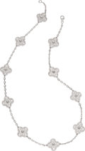 Estate Jewelry:Necklaces, Diamond, White Gold Necklace, Van Cleef & Arpels. ...