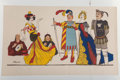 Fine Art - Work on Paper:Print, After Adrien Barrère. Untitled. Lithograph in colors. 29 x15-1/2 inches (73.7 x 39.4 cm). ...