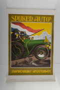 Fine Art - Work on Paper:Print, Unknown Artist (20th Century). Spuker Auto's, 1919.Lithograph in colors. 32-1/2 x 22 inches (82.6 x 55.9 cm) (sheet).P...