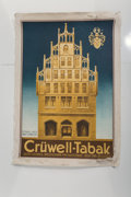 Fine Art - Work on Paper:Print, Unknown Artist (20th Century). Cruwell-Tabak, 1929.Lithograph in colors. 36-1/4 x 26-3/4 inches (92.1 x 67.9 cm)(sheet...