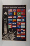 Prints & Multiples, Steve Broder (20th Century). The United Nations Fight for Freedom. Lithograph in colors. 40-1/2 x 28-1/4 inches (102.9 x...