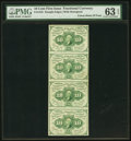 Fractional Currency:First Issue, Fr. 1242 10c First Issue Uncut Strip of Four PMG ChoiceUncirculated 63 EPQ. . ...
