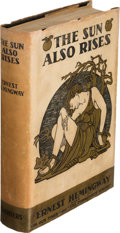 "Books:Literature 1900-up, Ernest Hemingway. The Sun Also Rises. New York: CharlesScribner's Sons, 1926. First edition, first state, with ""sto..."