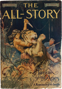 Edgar Rice Burroughs. Tarzan of the Apes [In The All-Story, Vol. XXIV, No. 2]. New Y