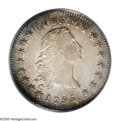 Early Dollars: , 1795 $1 Flowing Hair, Two Leaves MS62 PCGS. B-1, BB-21, R.1. Ex:Cardinal Collection. This coin stands within or very near...