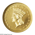 Proof Gold Dollars: , 1881 G$1 PR67 Ultra Cameo NGC. Only 87 proof gold dollars were struck in 1881, but the occasional offering of first-strike ...