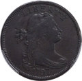 Large Cents, 1797 1C Reverse of 1797, Stems, S-123, B-12, R.4, VF20 PCGS. PCGS Population: (1/4). NGC Census: (0/2). VF20. ...