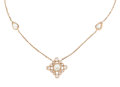 Estate Jewelry:Necklaces, Diamond, Rose Gold Necklace . ...