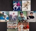 Autographs:Photos, Baseball Greats Signed Photograph Collection (8) and Lou BrockSigned Base....