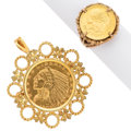 Estate Jewelry:Lots, Gold Coin, Gold Jewelry Lot . ... (Total: 2 Items)