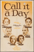 """Movie Posters:Comedy, Call It a Day (Warner Brothers, 1937). One Sheet (27"""" X 41"""").Comedy.. ..."""