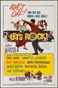 """Movie Posters:Rock and Roll, Let's Rock (Columbia, 1958). One Sheet (27"""" X 41""""). Rock and Roll....."""