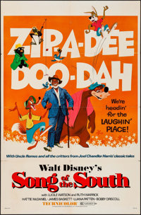 """Song of the South (Buena Vista, R-1972). One Sheet (27"""" X 41""""). Animation"""