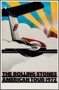 """The Rolling Stones American Tour 1972 (Sunday Promotions, 1972). Poster (25"""" X 38""""). Rock and Roll"""