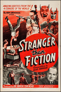 "Stranger Than Fiction (Universal, 1940). One Sheet (27"" X 41""). Short Subject"