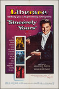"Movie Posters:Drama, Sincerely Yours (Warner Brothers, 1955). One Sheet (27"" X 41"").Drama.. ..."