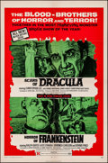 """Movie Posters:Horror, Scars of Dracula/Horror of Frankenstein Combo (American ContinentalFilms Inc., R-1971). One Sheet (27"""" X 41""""). Horror.. ..."""