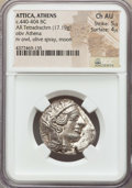 Ancients:Greek, Ancients: ATTICA. Athens. Ca. 440-404 BC. AR tetradrachm (17.19gm). NGC Choice AU 5/5 - 4/5....