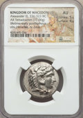 Ancients:Greek, Ancients: MACEDONIAN KINGDOM. Alexander III the Great (336-323 BC).AR tetradrachm (17.06 gm). NGC AU 5/5 - 4/5. ...