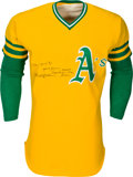 Baseball Collectibles:Uniforms, 1974 Reggie Jackson Game Worn Oakland Athletics Uniform, MEARS A9.5.. ...