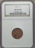 Indian Cents, 1872 1C MS65 Red and Brown NGC....