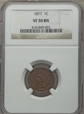 Indian Cents, 1877 1C VF30 NGC....
