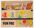 Golden Age (1938-1955):Miscellaneous, Peter Wheat Four-In-One Fun Pac (Bakers Associates, 1954) Condition: FN....