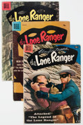Silver Age (1956-1969):Western, Lone Ranger #112-145 Group of 35 with Clayton Moore Signatures(Dell, 1957-62).... (Total: 35 Comic Books)