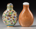 Asian:Chinese, Two Chinese Snuff Bottles, Qing Dynasty, 19th century. 2-3/4 incheshigh (7.0 cm). ... (Total: 2 Items)