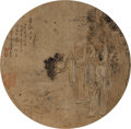 Asian:Chinese, Dong Shi (Chinese). A Group of Scholars. 9-1/2 inchesdiameter (24.1 cm). ...